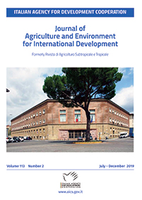 Cover photograph: Facade of the former Overseas Agronomic Institute (ex Istituto Agronomico per l'Oltremare) in Florence (Italy). Today it hosts an office of the Italian Agency  for Development Cooperation